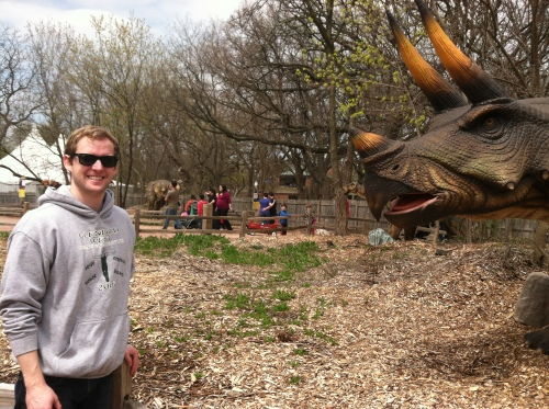 Unckie John and the triceratops.