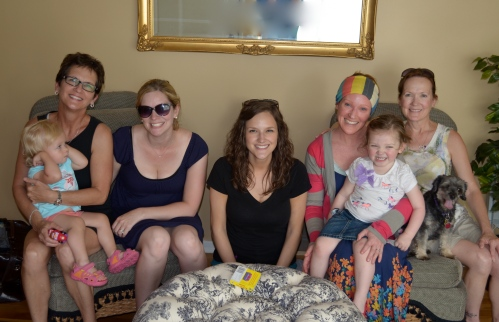 Here we are - Aunt Beth and Sadie, Amanda, Mary, Me and Charlotte, Luna, and my mom!