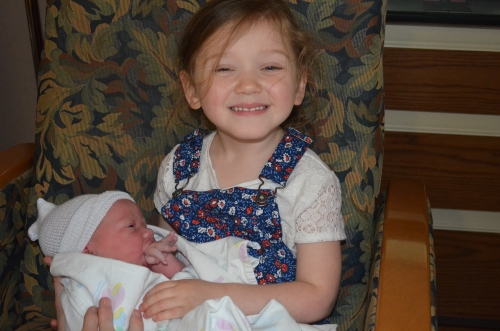 Charlotte knew she was getting a sister all along! Her intuitions are much better than mine!